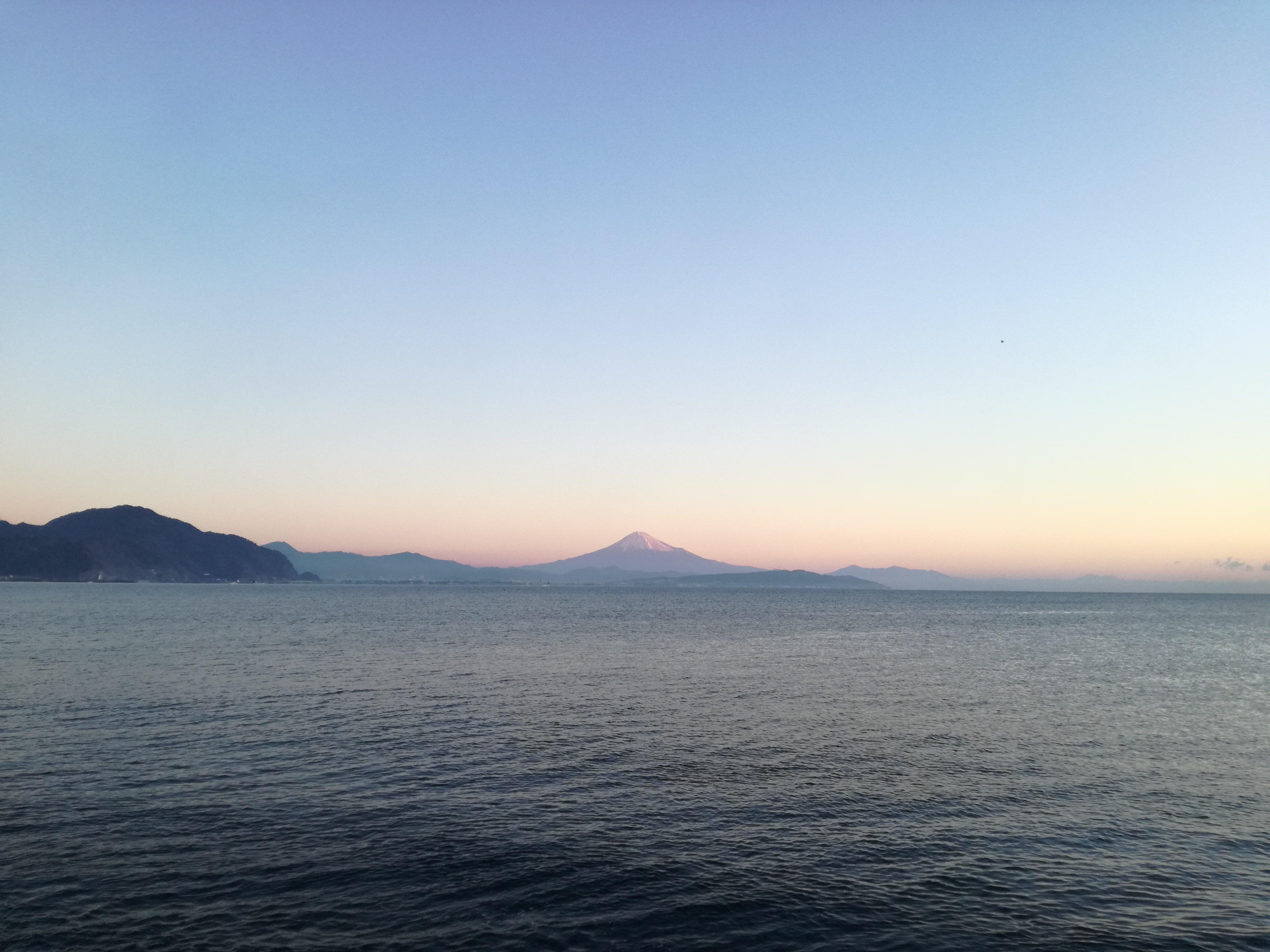 富士山と初日の出