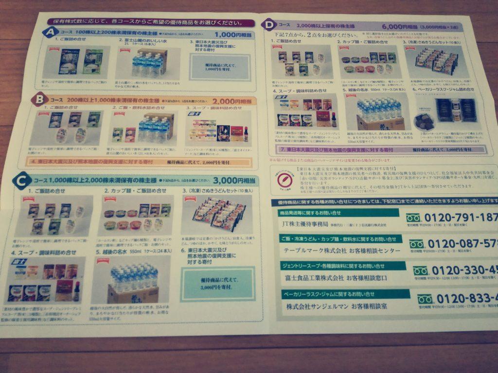 大きな含み損を抱えている日本たばこ産業/JT(2914)から株主優待案内到着!