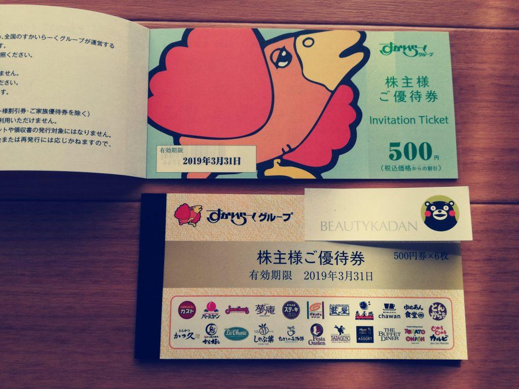 待望のすかいらーく(3197)の株主優待券6,000円分が一日遅れで到着!
