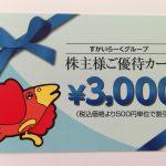 すかいらーくホールディングス(3197)の株主優待カードが3,000円分到着!
